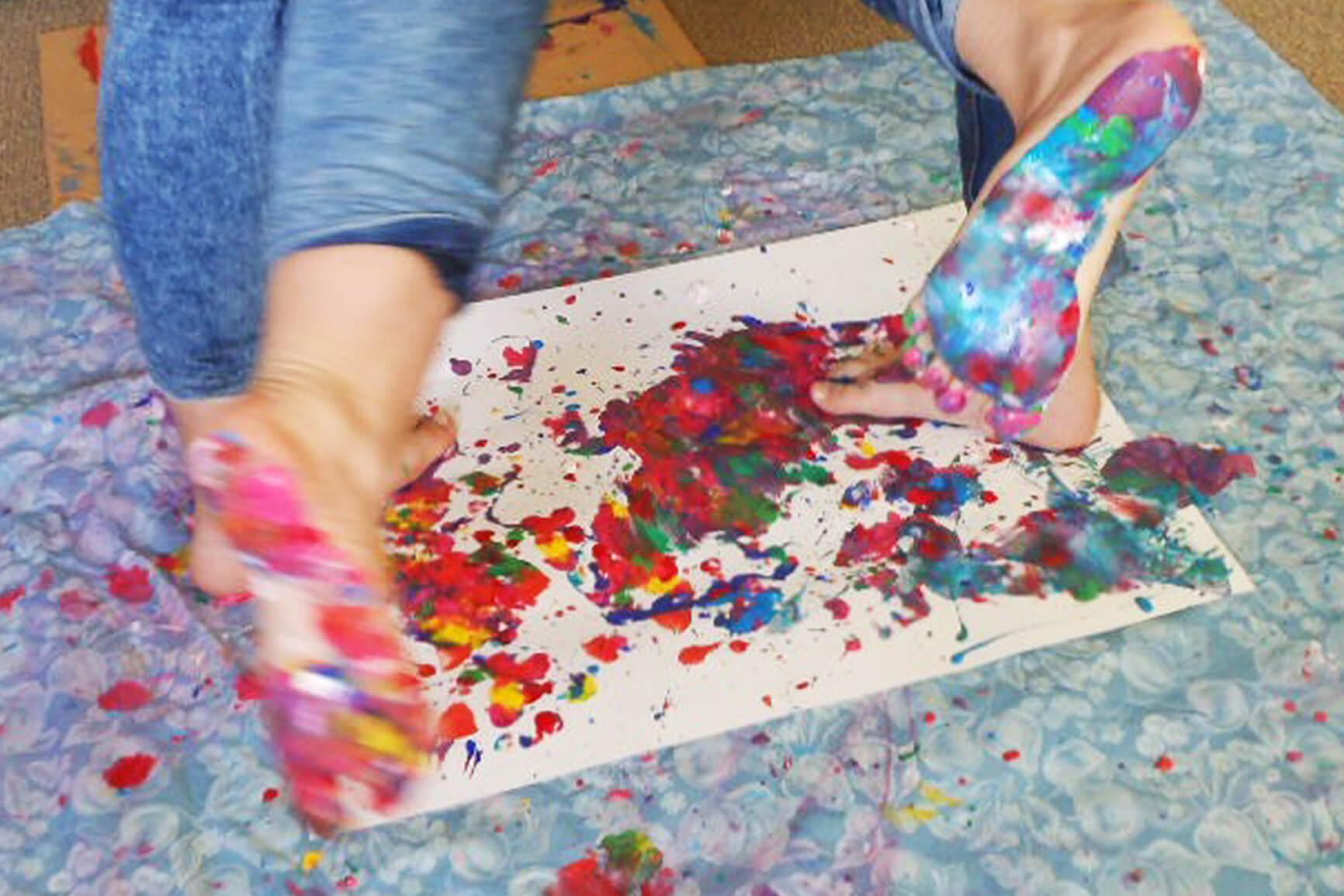 voetverven tekenlokaal gemma